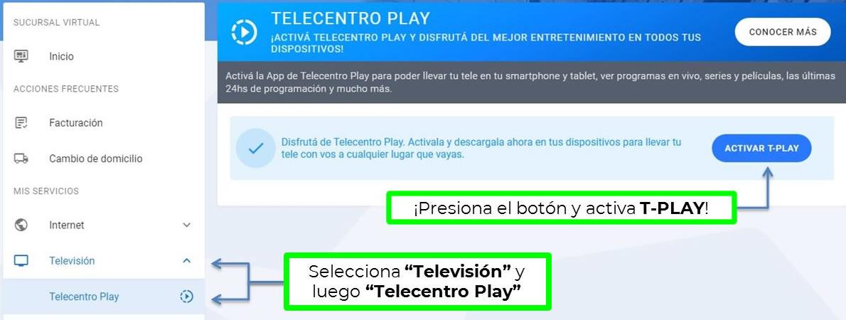 cómo activar telecentro play para ver televisión digital online