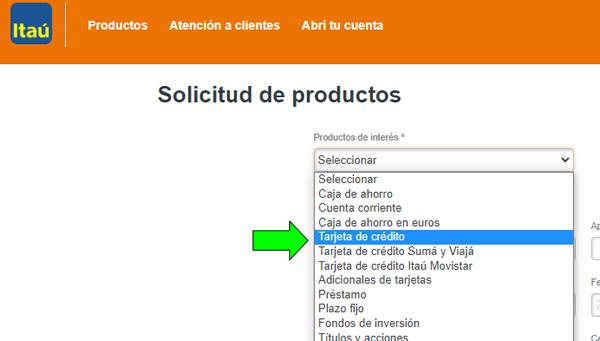 como solicitar tarjeta de crédito banco itau argentina