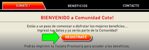 cómo solicitar tarjeta coto comunidad en argentina