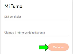 pedir turno online en turnero.naranja.com.ar
