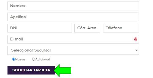 como sacar online tarjeta provencred visa comafi en argentina