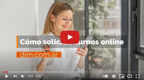 video tutorial para sacar turno online en clínica DIM buenos aires