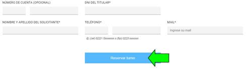 formulario solicitar turno edea luz sucursales