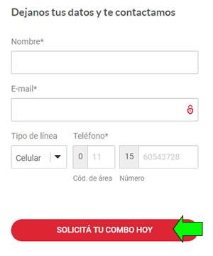 formulario para contratar fibertel internet promos en argentina