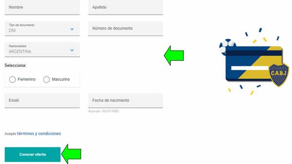 formulario para sacar tarjeta de crédito xeneize bbva banco francés
